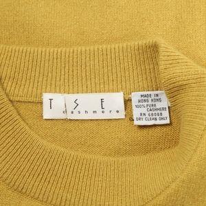 TSE Tops - TSE – Yellow CASHMERE Sweater Top – Size S